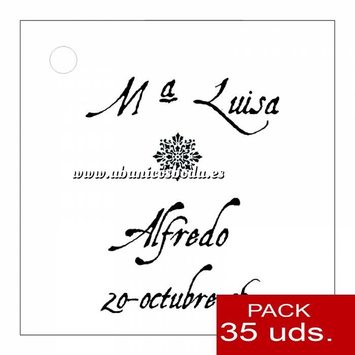 Imagen Etiquetas personalizadas Etiqueta Modelo F12 (Paquete de 35 etiquetas 4x4)