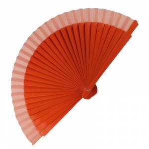 Abanico Liso 16 cm - Abanico Liso 16 cm Naranja (Últimas Unidades)