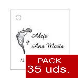 Imagen Etiquetas personalizadas Etiqueta Modelo A01 (Paquete de 35 etiquetas 4x4)