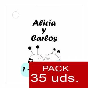 Etiquetas personalizadas - Etiqueta Modelo A08 (Paquete de 35 etiquetas 4x4)
