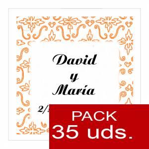 Etiquetas personalizadas - Etiqueta Modelo A12 (Paquete de 35 etiquetas 4x4)