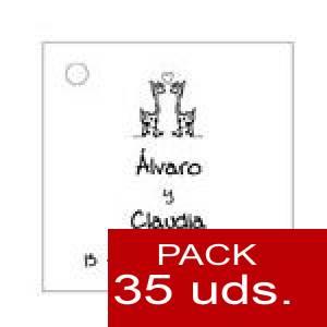 Imagen Etiquetas personalizadas Etiqueta Modelo B02 (Paquete de 35 etiquetas 4x4)