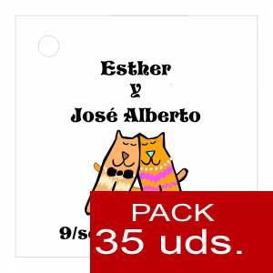 Etiquetas personalizadas - Etiqueta Modelo C13 (Paquete de 35 etiquetas 4x4)