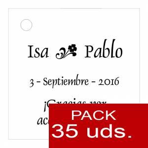 Etiquetas personalizadas - Etiqueta Modelo D01 (Paquete de 35 etiquetas 4x4)