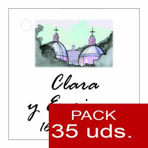 Etiquetas personalizadas - Etiqueta Modelo D07 (Paquete de 35 etiquetas 4x4)