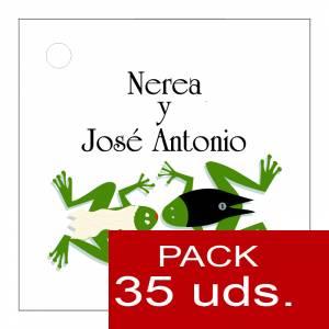 Etiquetas personalizadas - Etiqueta Modelo D14 (Paquete de 35 etiquetas 4x4)