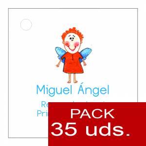 Etiquetas personalizadas - Etiqueta Modelo D15 (Paquete de 35 etiquetas 4x4)