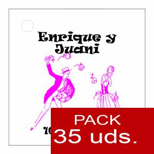 Imagen Etiquetas personalizadas Etiqueta Modelo E11 (Paquete de 35 etiquetas 4x4)