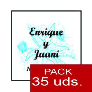 Imagen Etiquetas personalizadas Etiqueta Modelo E12 (Paquete de 35 etiquetas 4x4)
