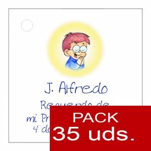 Etiquetas personalizadas - Etiqueta Modelo E18 (Paquete de 35 etiquetas 4x4)