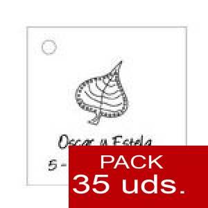 Imagen Etiquetas personalizadas Etiqueta Modelo F02 (Paquete de 35 etiquetas 4x4)