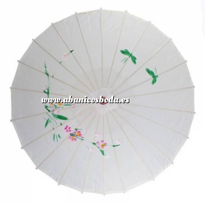 Imagen Sombrillas Sombrilla Japonesa Blanca CON DIBUJOS