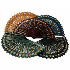 Abanicos pintados de 23 cms - Abanico Alhambra Pintado 2 Caras