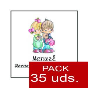 Imagen Etiquetas impresas Etiqueta Modelo A27 (Paquete de 35 etiquetas 4x4)