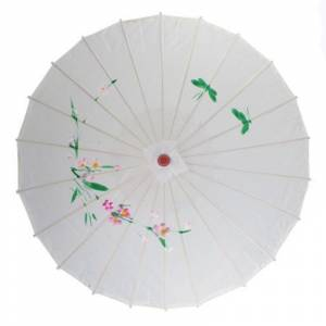 Sombrillas - Sombrilla Japonesa Blanca CON DIBUJOS